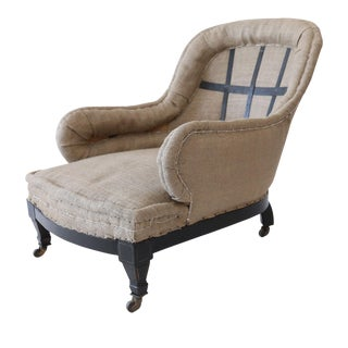 Shapely English Mahogany Armchair For Sale
