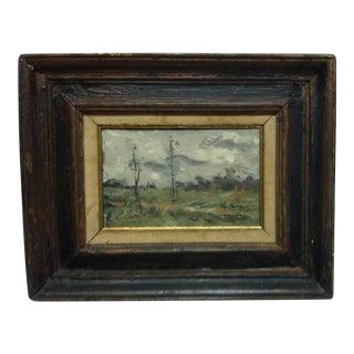 "1960s Vintage Frederick McDuff ""Open Field"" Framed Original Painting For Sale"