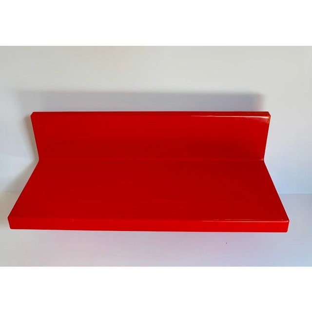 Red Vintage Kartell Plastic Shelves-a Pair For Sale - Image 8 of 12