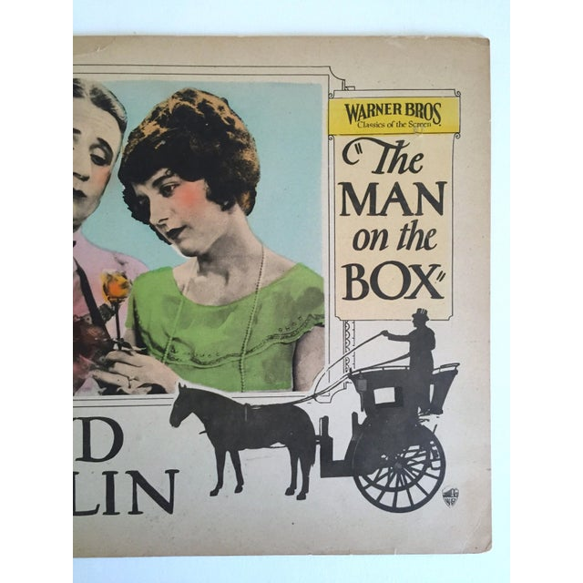 "Art Deco Rare Vintage 1925 Lobby Card Print "" the Man on the Box "" Movie Memorabilia Poster For Sale - Image 3 of 11"