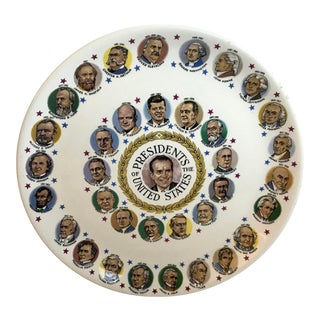 Vintage Richard Nixon President's Plate For Sale