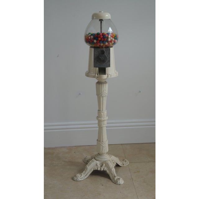 1920s Shabby Chic Tall Gumball Machine For Sale - Image 5 of 5