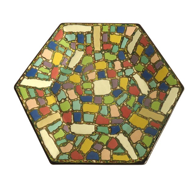 Faux Mosaic Pattern Studio Ceramic Catchall Tray - Image 1 of 5