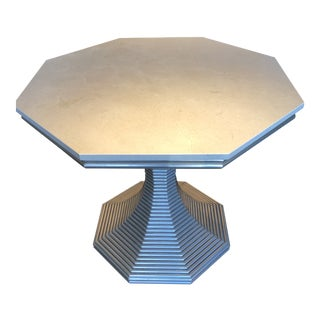 Bunny Williams Silver Hourglass Table For Sale