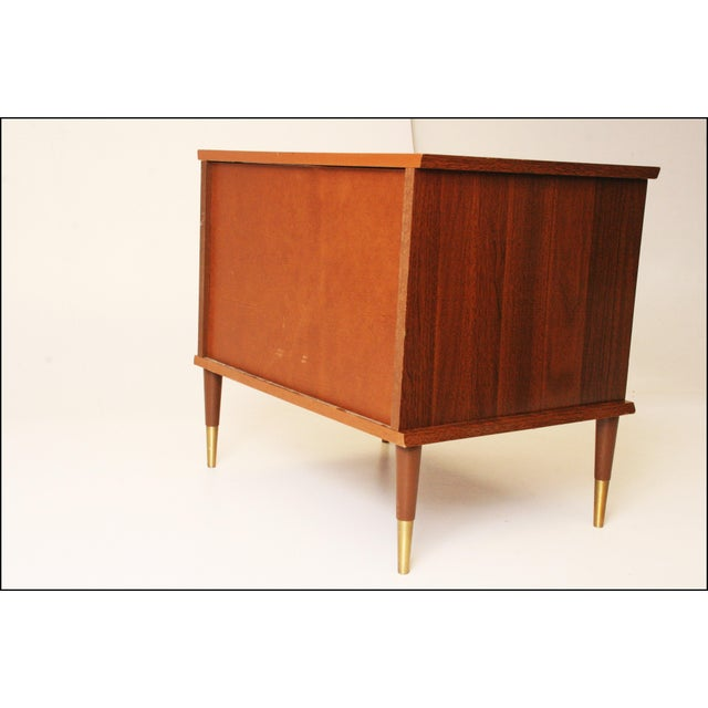 Mid-Century Modern Wood Record Cabinet - Image 6 of 11