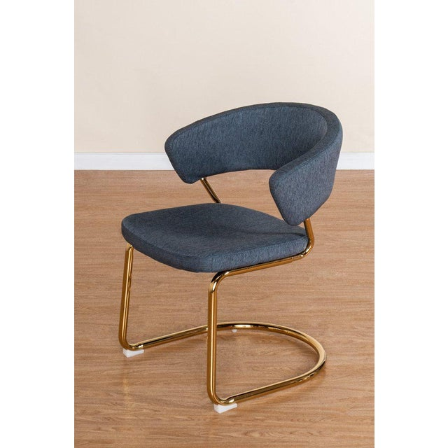 Contemporary Brandie Stainless Steel Side Chair For Sale - Image 3 of 3
