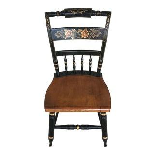 L. Hitchcock Black Harvest Inn Side Chair For Sale