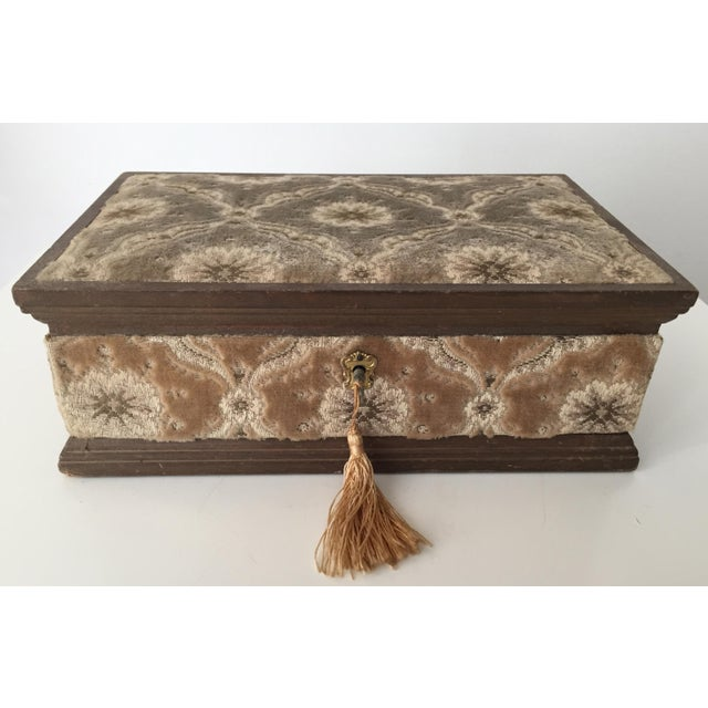 Italian Velvet Jewelry Box & Tassel Key-1965 - Image 2 of 10