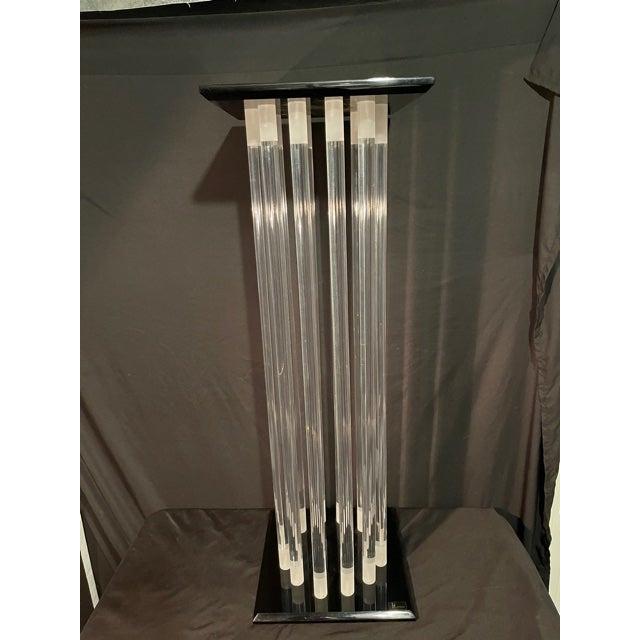 Mid 20th Century Shlomi Haziza Mid Century Lucite Pedestal For Sale - Image 5 of 5
