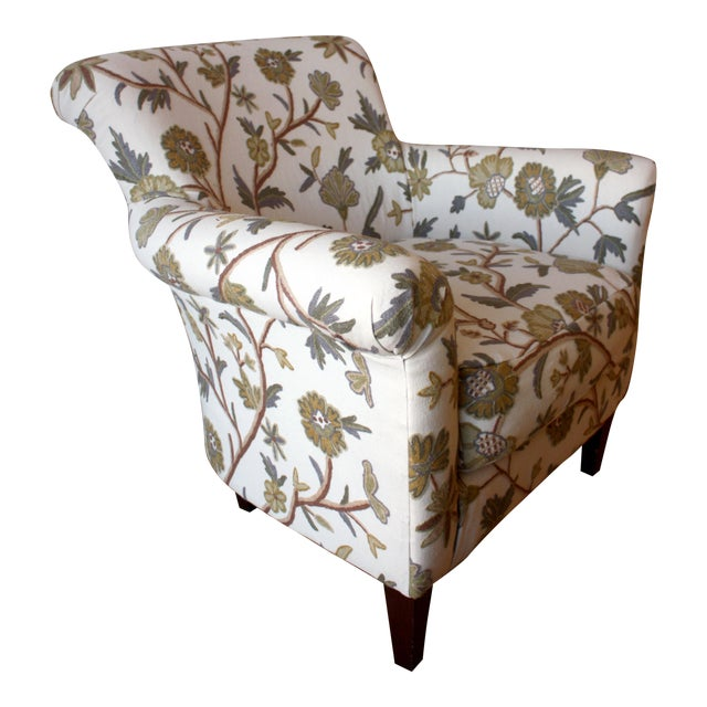 Custom Floral Chair - Image 1 of 5
