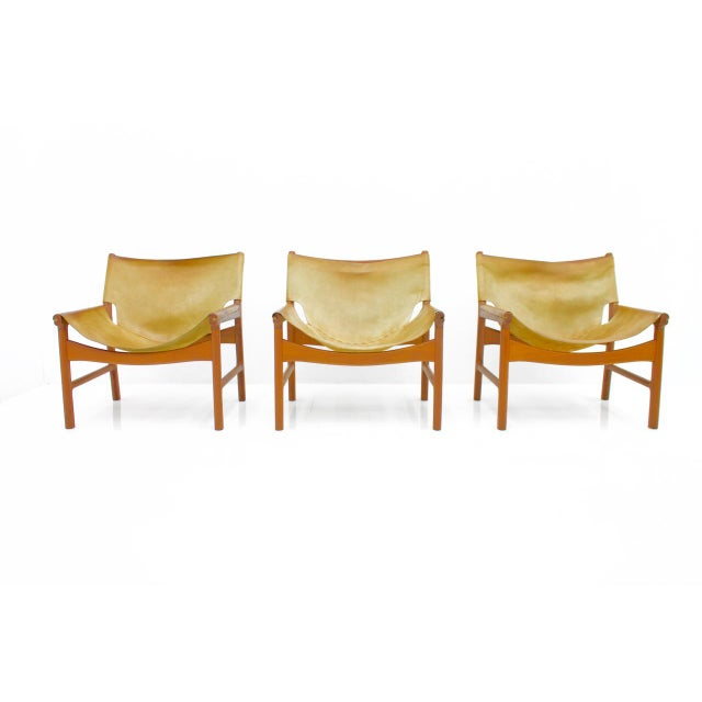 Rare Set of Three Lounge Chairs by Illum Wikkelsø for Mikael Laursen, 1972 For Sale - Image 9 of 9