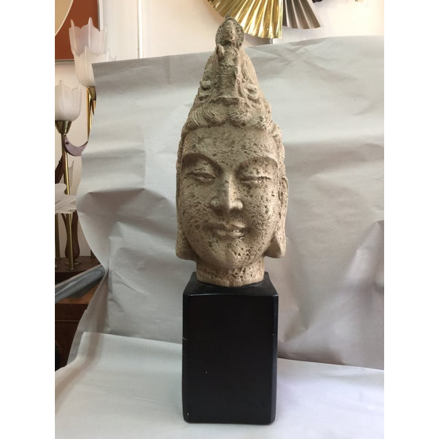 James Mont Style 1960's Buddha Head Sculpture - Image 3 of 9