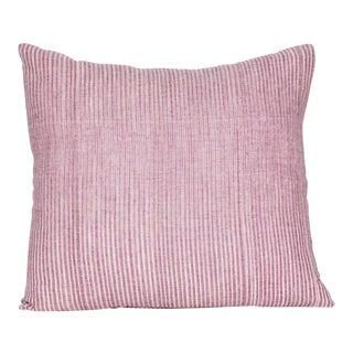 Violet Striped Square Pillow