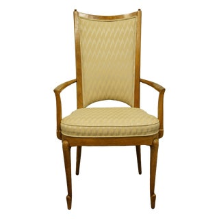 Late 20th Century Mastercraft Furniture Grand Rapids Italian Provincial Style Dining Arm Chair For Sale