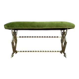Vintage Green Whippet Bench For Sale