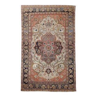 "Antique Persian Mohtasham Kashan - 4'3"" x 6'9"""