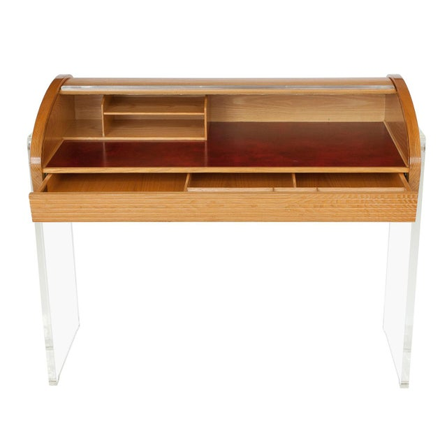 Vladimir Kagan Roll Top Writing Desk - Image 3 of 10