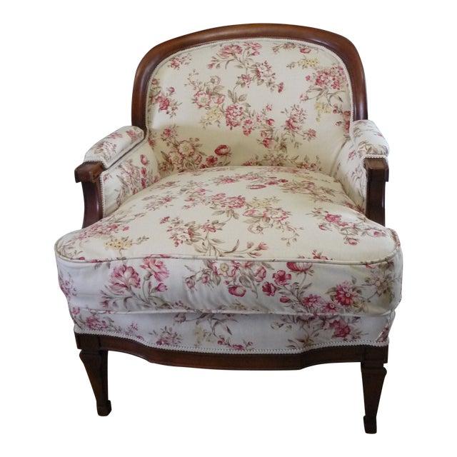 "Hollywood Regency 5th Avenue Designs ""Covington"" Walnut Boudoir Chair For Sale"
