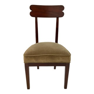 Transitional Hickory Chair Olive Velvet Southfield Chair For Sale