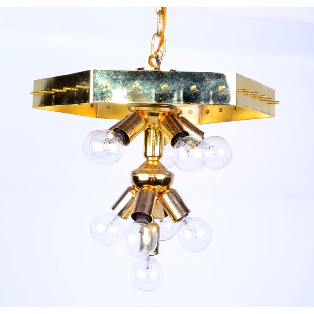 Lucite Ribbon Chandelier With Canopy For Sale - Image 10 of 11