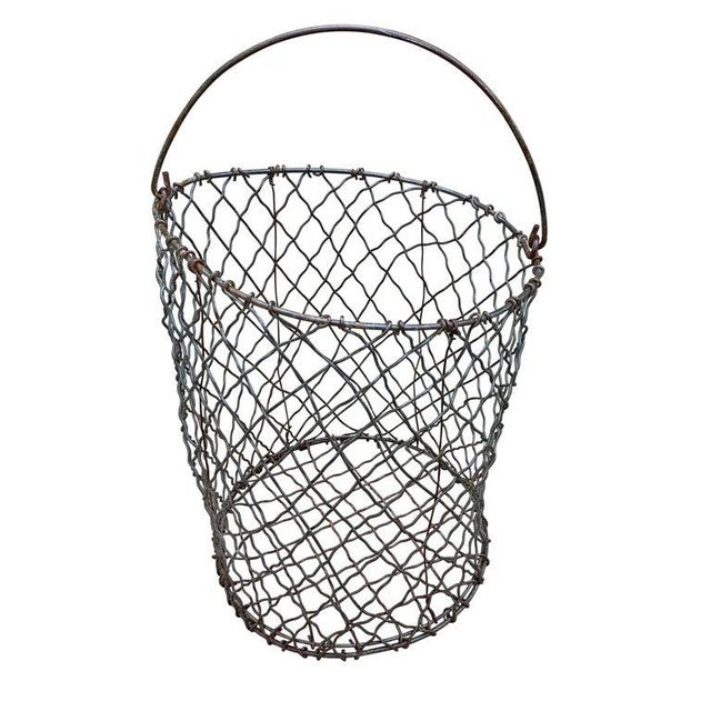Vintage American Industrial Wire Basket For Sale - Image 4 of 8