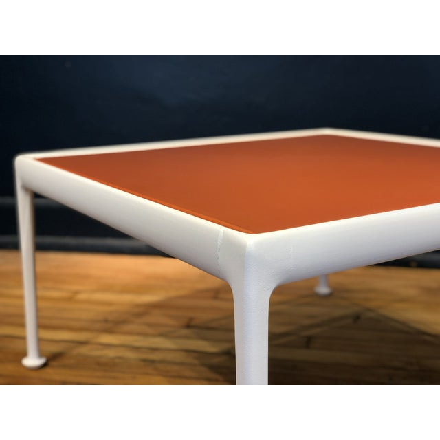 Richard Schultz for Knoll Orange and White Enamel Top Side/Coffee Table For Sale - Image 10 of 12