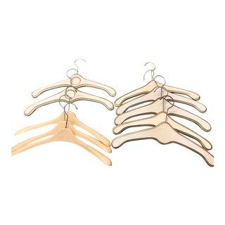 Vintage 1970s Midcentury NEVCO-Yugoslavia Wooden Hangers - Set of 10 For Sale