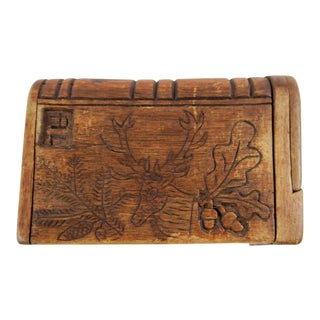 Antique Hand Carved Puzzle Box For Sale