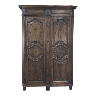 18th Century Country French Provincial Armoire For Sale