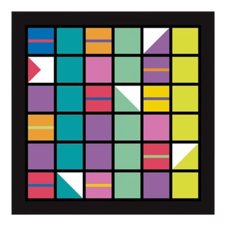 """Cross Rhythm #4"" Contemporary Geometric Limited Edition of 45 Reproduction Print For Sale"