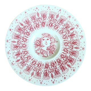 Red & White Wall Plate Plaque