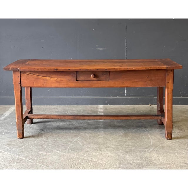 1800's Primitive French Dining/Work Table/Console For Sale - Image 13 of 13