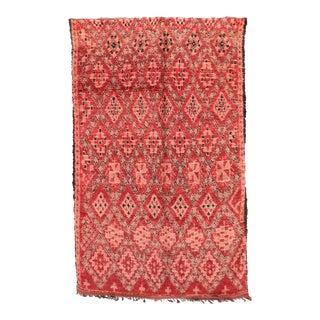 """Beni M'Guild Vintage Moroccan Rug, 6'3"""" X 10'5"""" For Sale"""
