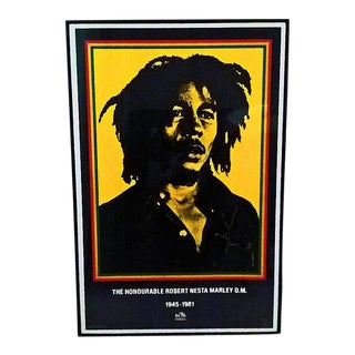 Bob Marley 1990 Framed Memorial Poster For Sale