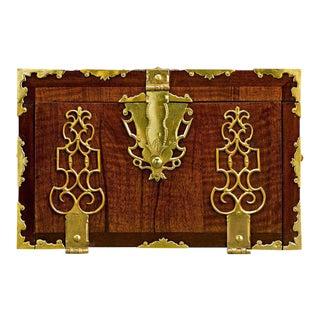 English Brass Bound Lock Box