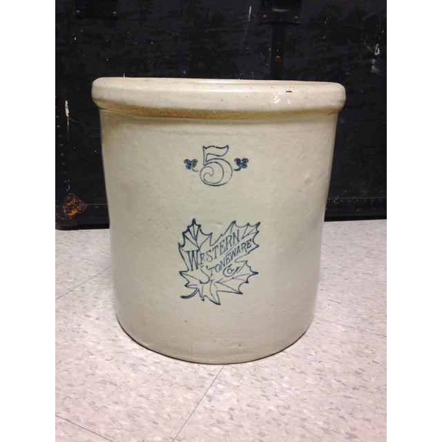 Western Stoneware Co. 5 Gallon Crock For Sale - Image 4 of 4
