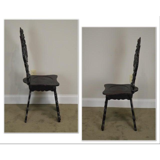 *STORE ITEM #: 19085 Italian Renaissance Antique Phoenix Carved Walnut Hall Chair AGE / ORIGIN: 1830s / Italy DETAILS /...
