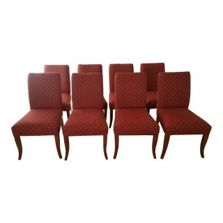 Red Upholstered Dining Chairs - Set of 8