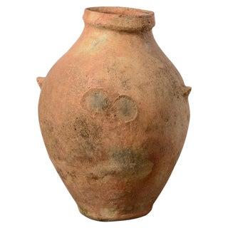 Antique Mediterranean Garden Terra-Cotta Large Olive Oil Jar For Sale