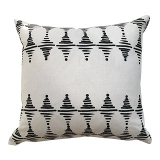 Greige Textiles Stacked in Black on Oyster Pillow For Sale