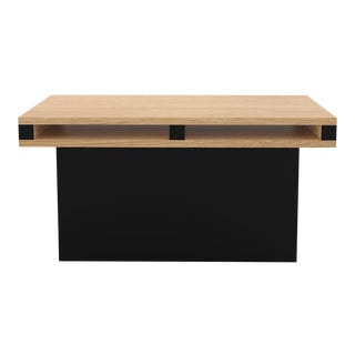 Contemporary 102 End Table in Oak and Black by Orphan Work, 2019 For Sale