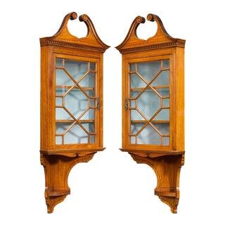 Victorian Corner Cabinets, 19th Century For Sale