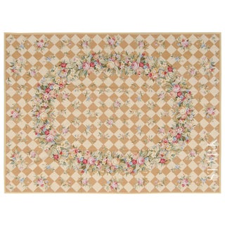 """Stark Studio Rugs Traditional Chinese Needlepoint Wool Rug - 9'9"""" X 14' For Sale"""