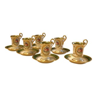 Limoges Coffee Cups & Saucers - Set of 12