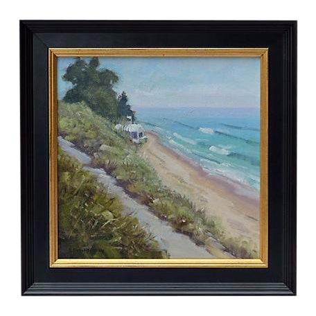 Rob Robinson Beach Seascape Painting - Image 1 of 2