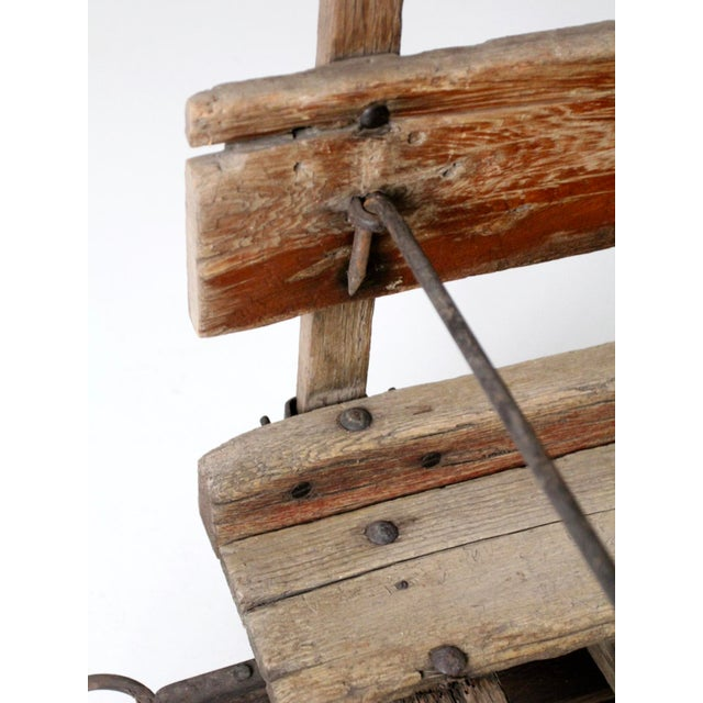Antique Primitive Sled For Sale - Image 9 of 13