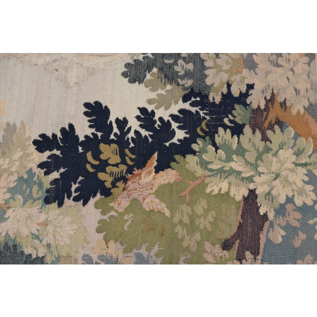 Fine Antique European Tapestry Depicting a Country Scene With Dogs For Sale - Image 10 of 13