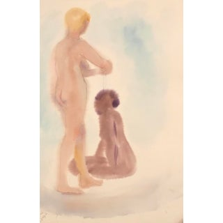 Female Nudes Watercolor 1980s For Sale