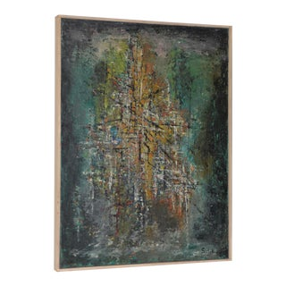 Classic Mid-Century Modern Abstract Painting by Solik C.1959 For Sale