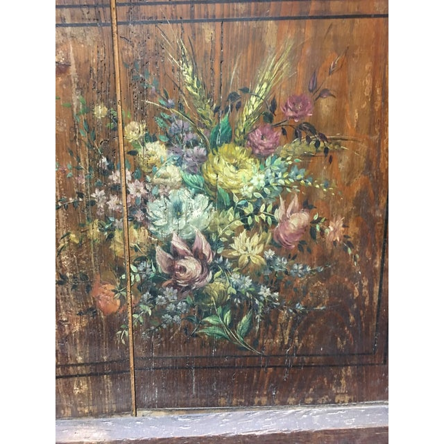 Antique French Hand Painted Brass Repoussé Grandfather Clock For Sale - Image 11 of 13
